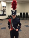 South Doyle High School band member in uniform