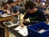 Sevier County High School students with force and motion hands-on learning equipment purchased with grant money
